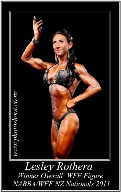 Body beautiful champion with fantastic hair