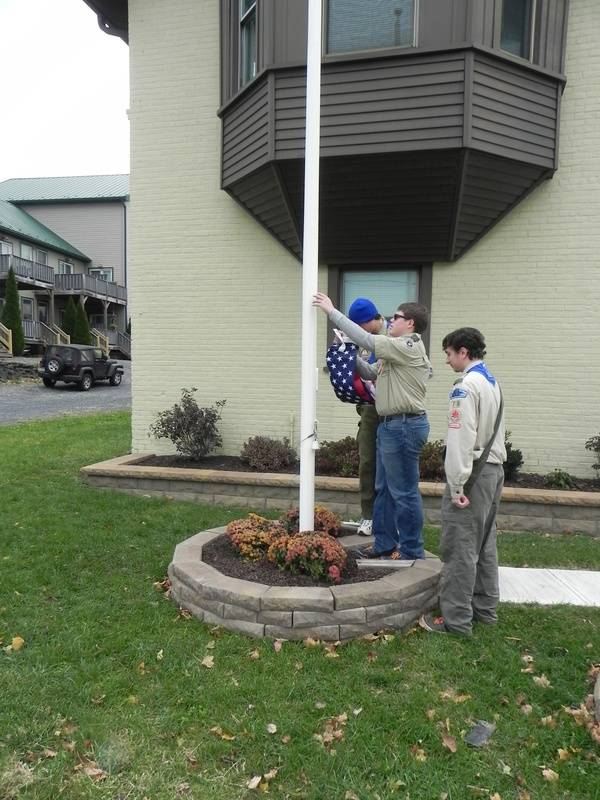 New flagpole & flag