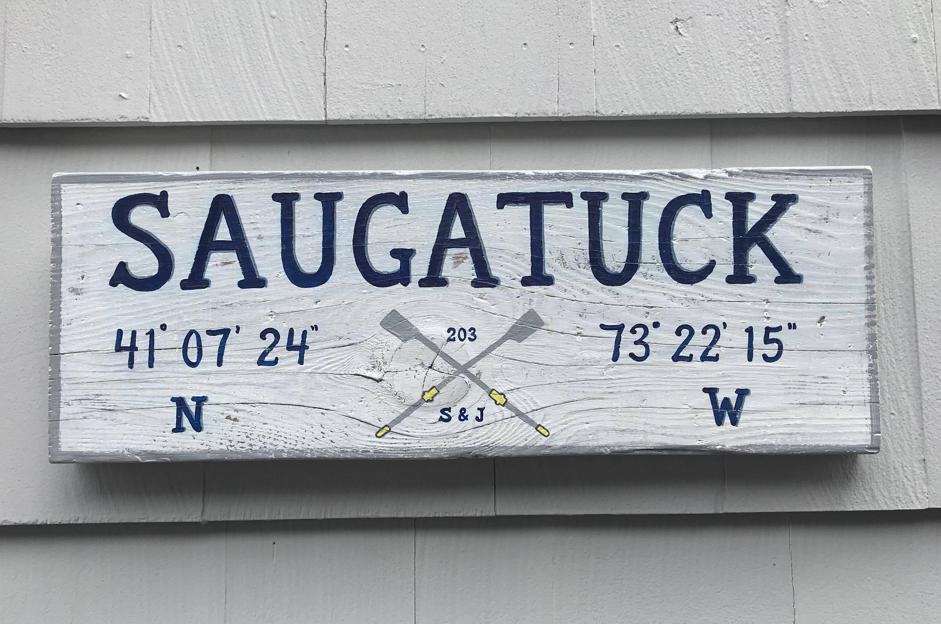 Saugatuck Rowing Club sign