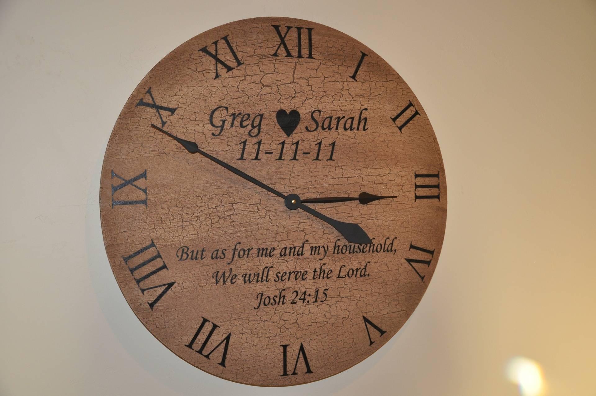 Custom made clocks