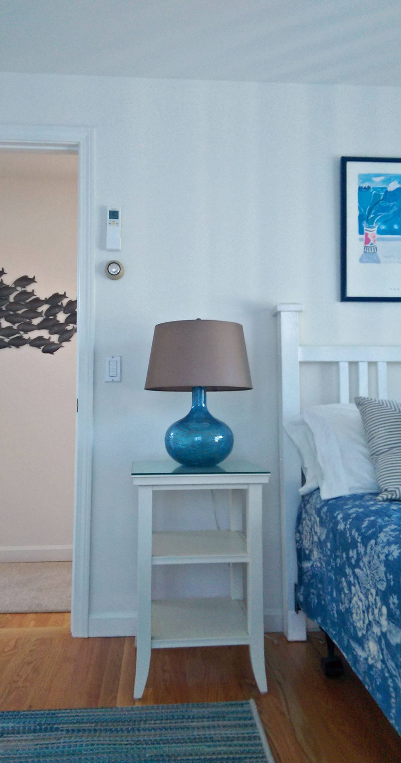 Detail of blue bedroom