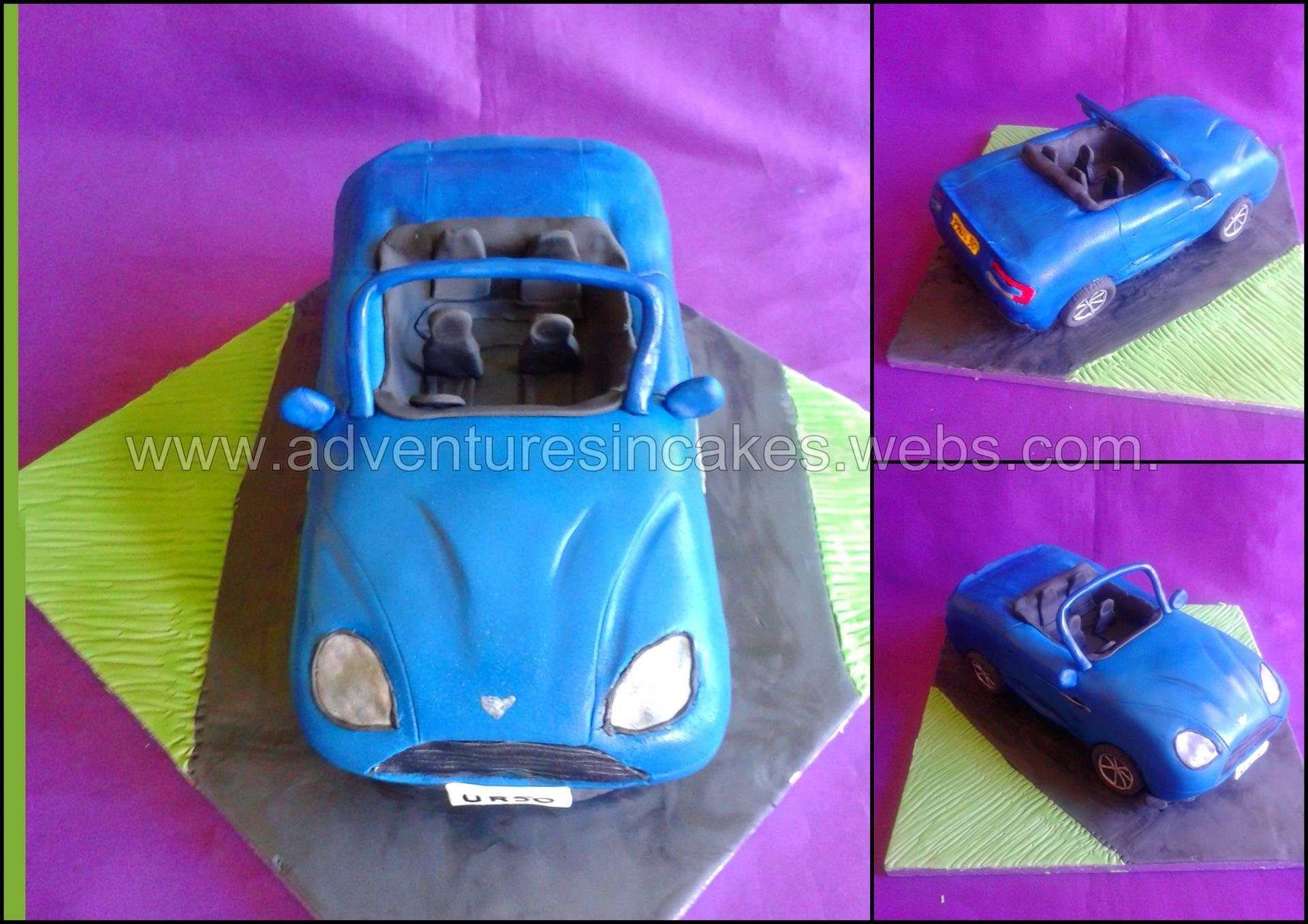 convertable car birthday cake