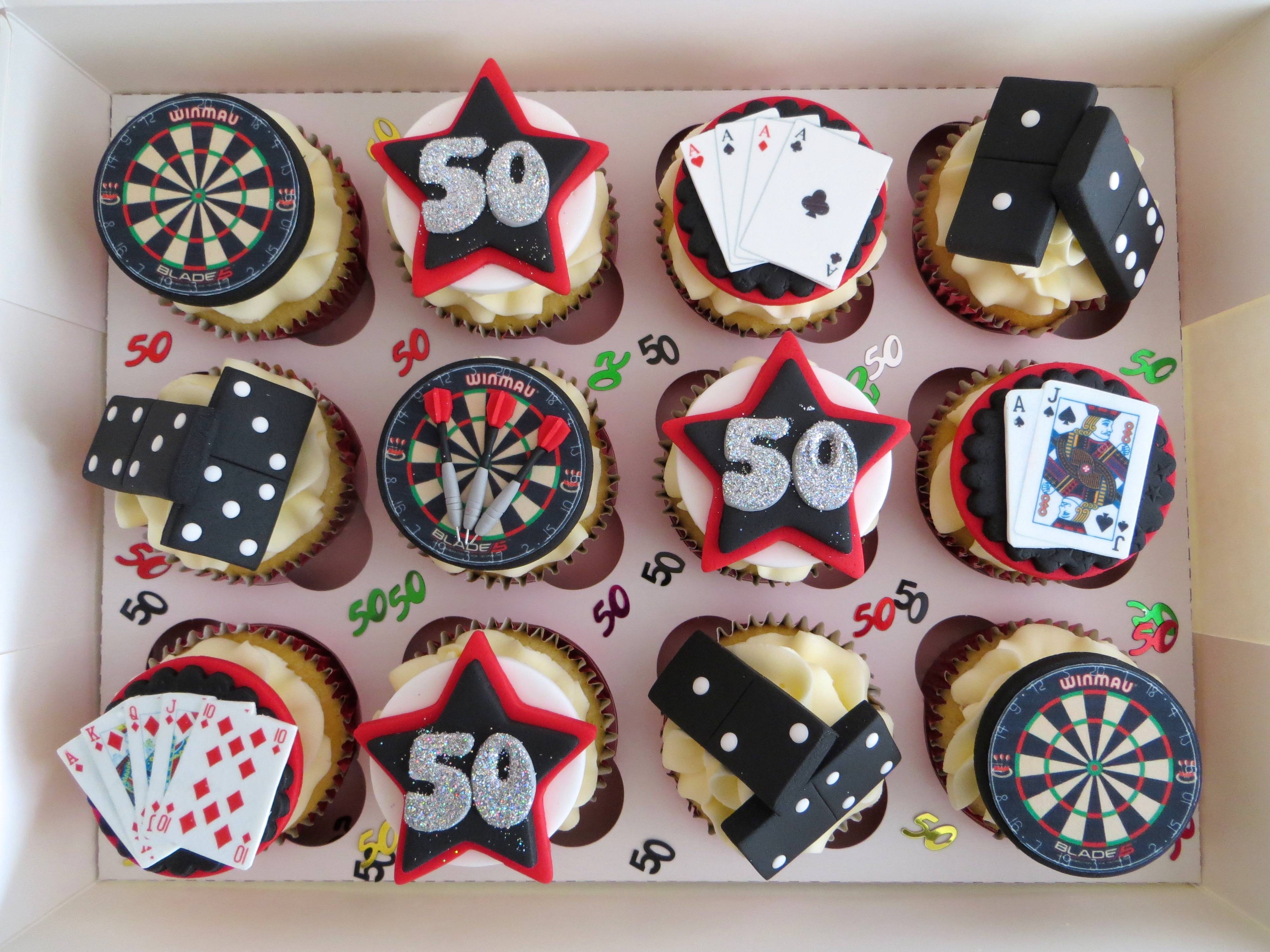 Darts and Dominoes cupcakes