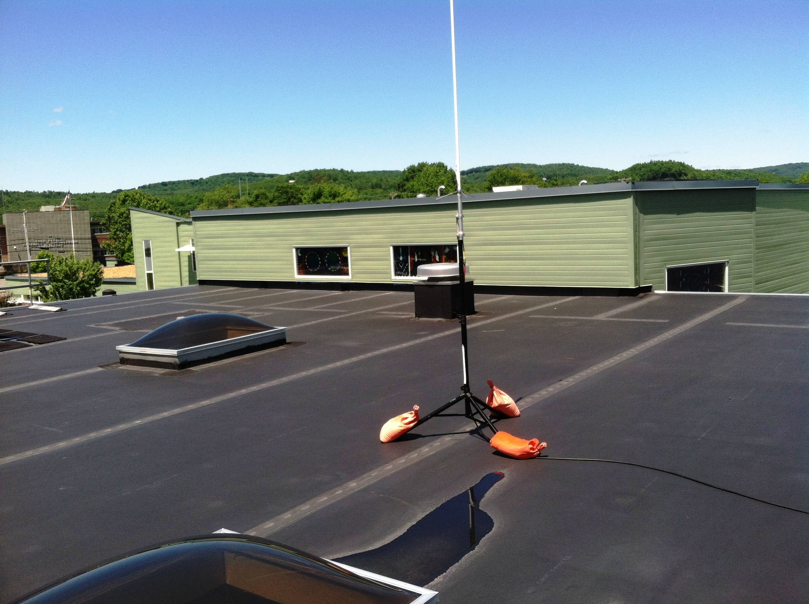 Antenna on the roof