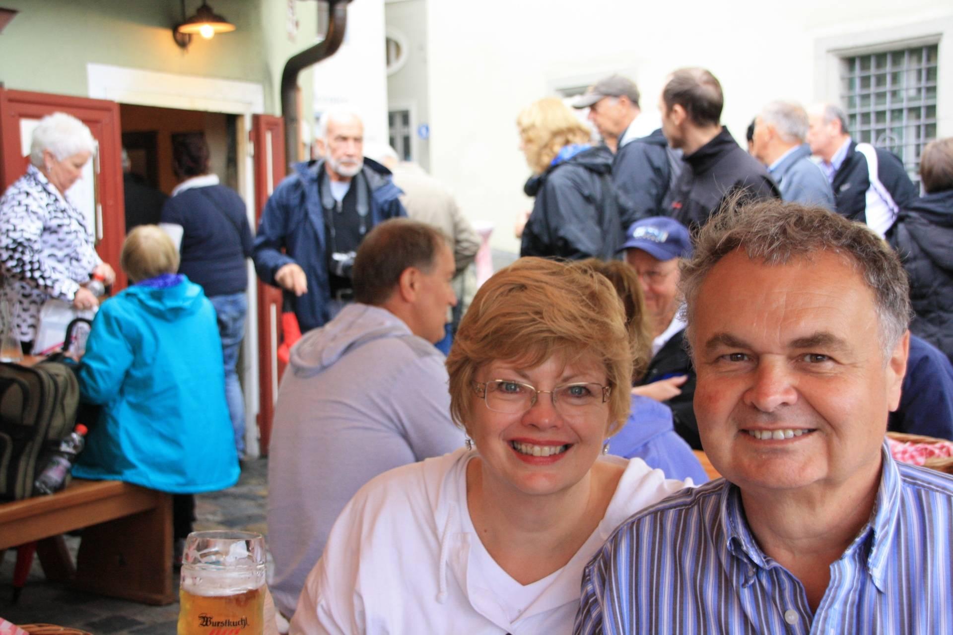 At Sausage Restaurant in Regensburg