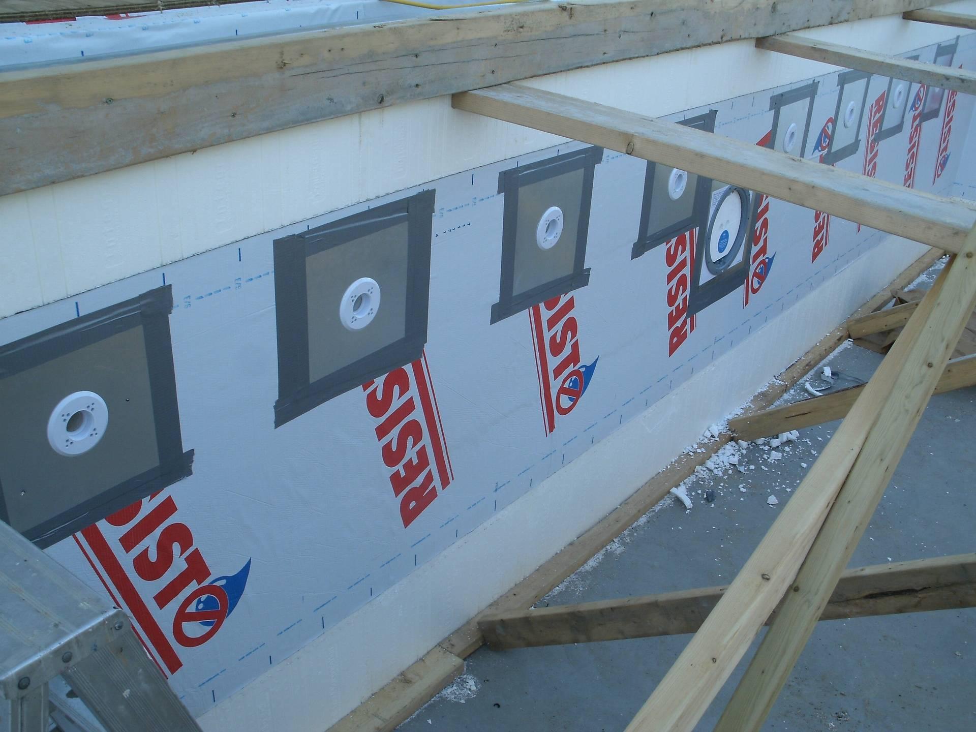 Installation des retours d'eau