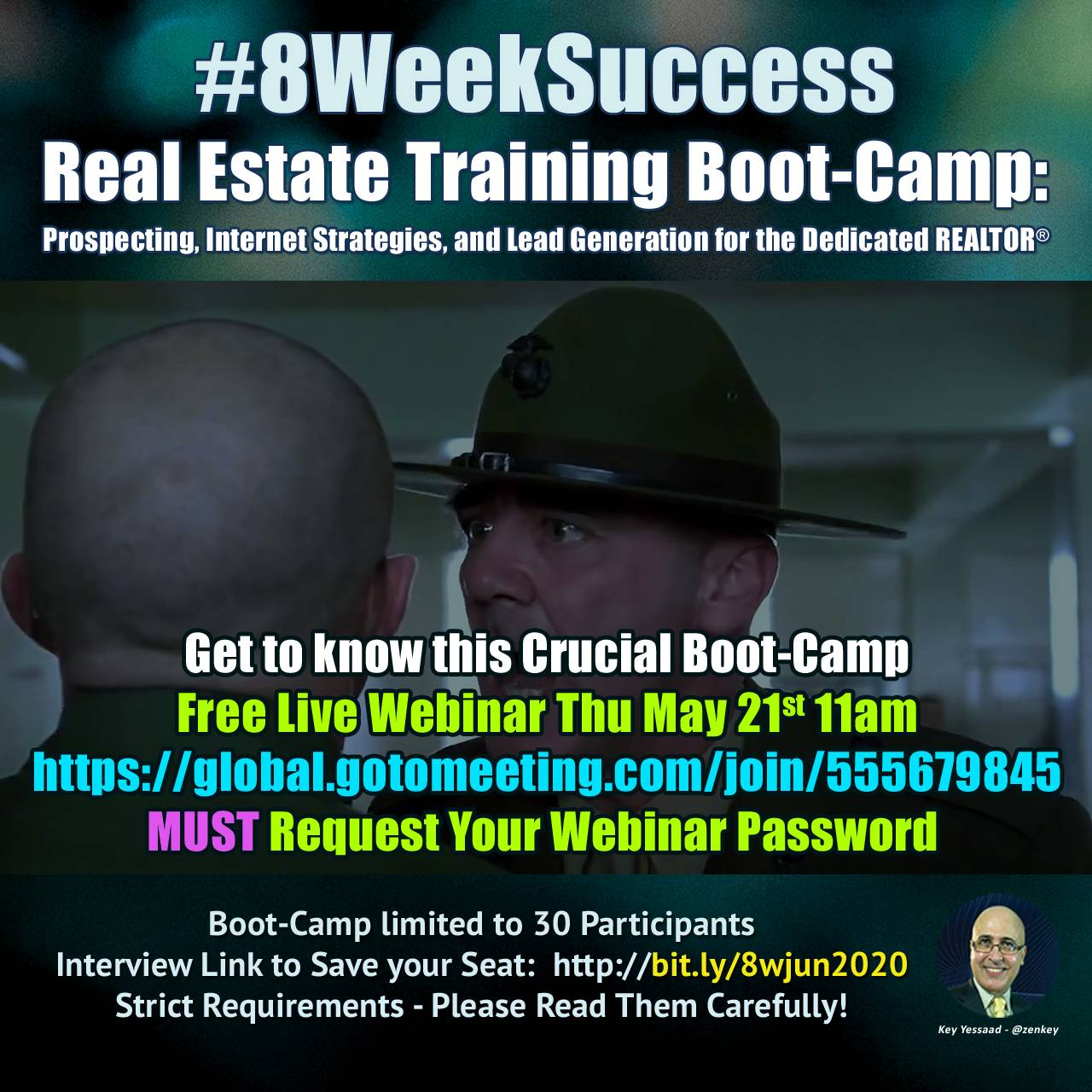 """Live Webinar """"Get to Know"""" The #8WeekSuccess Real Estate Boot-Camp..."""