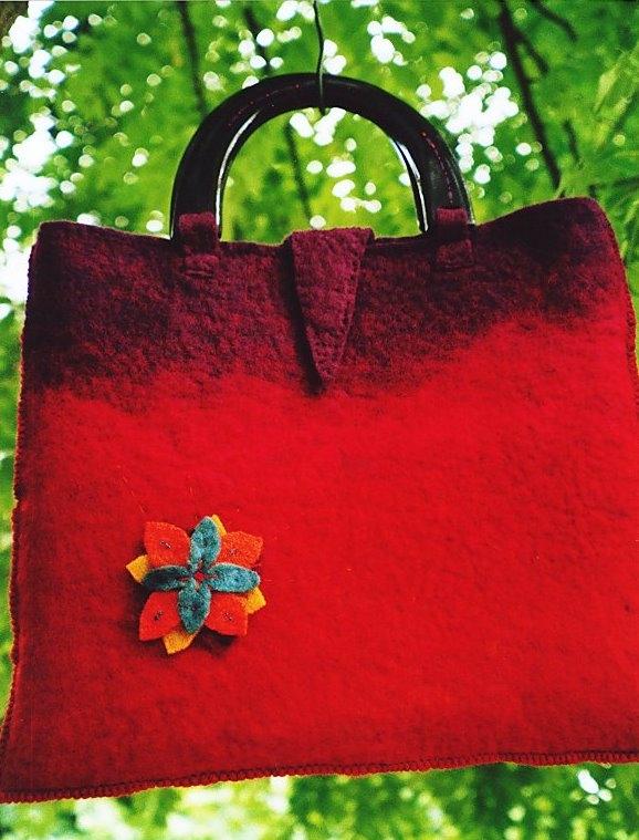 'Autumn' felt bag
