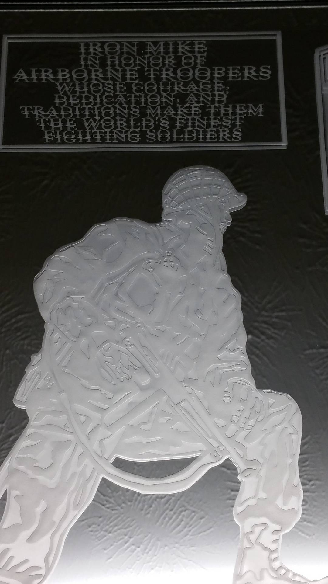 Close up of detail on Iron Mike