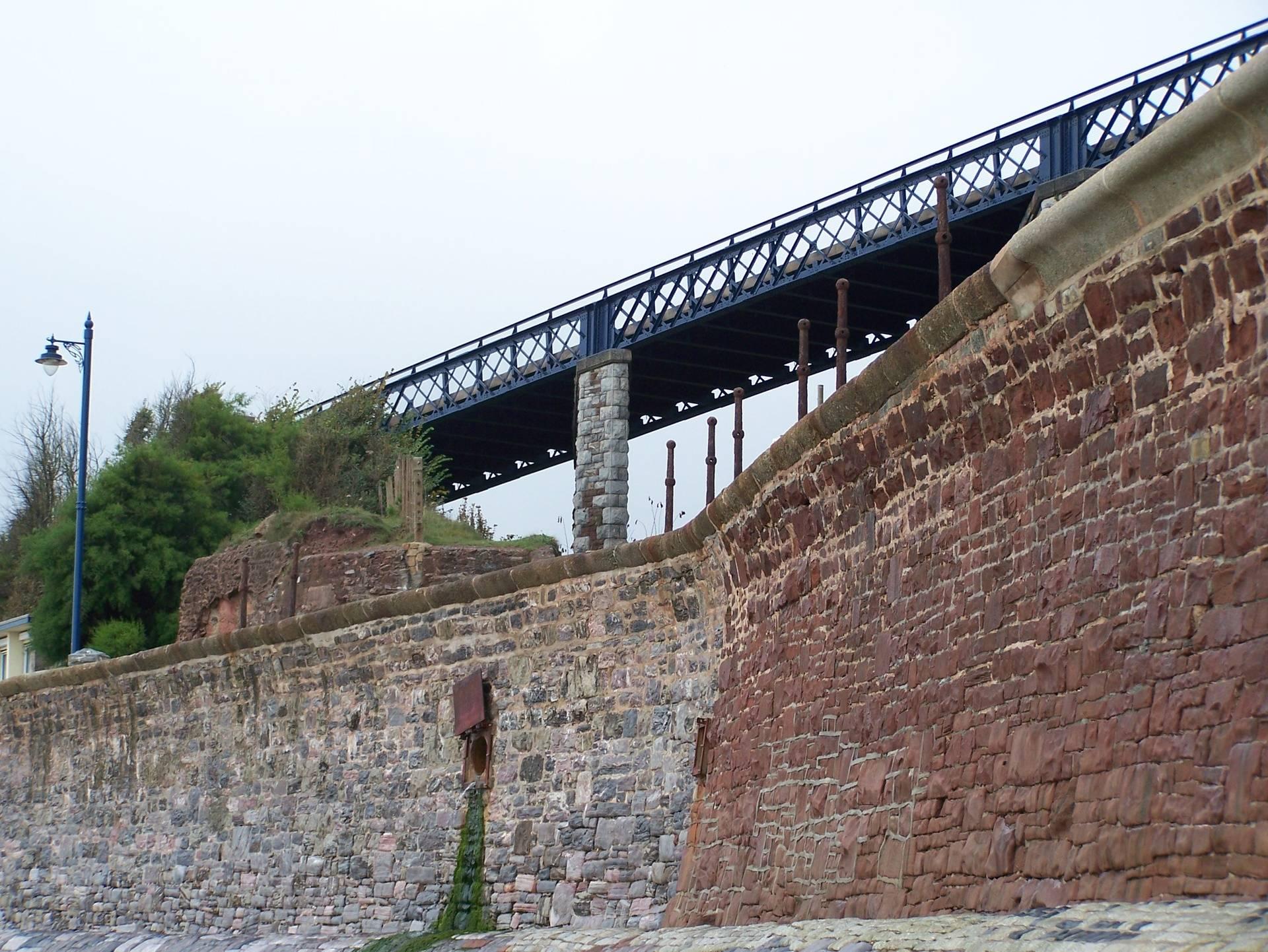 The bridge linking Teignmouth to the Park