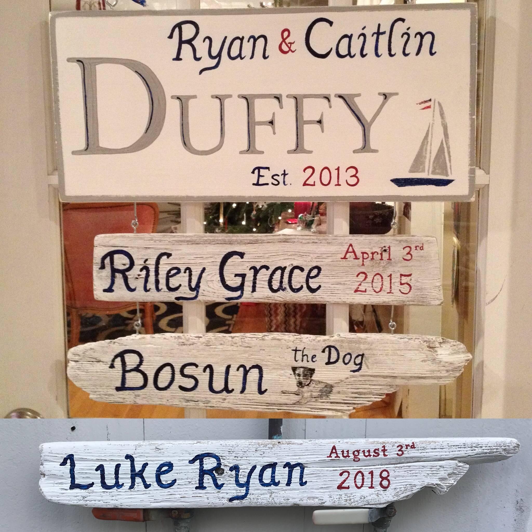 Family name est. sign