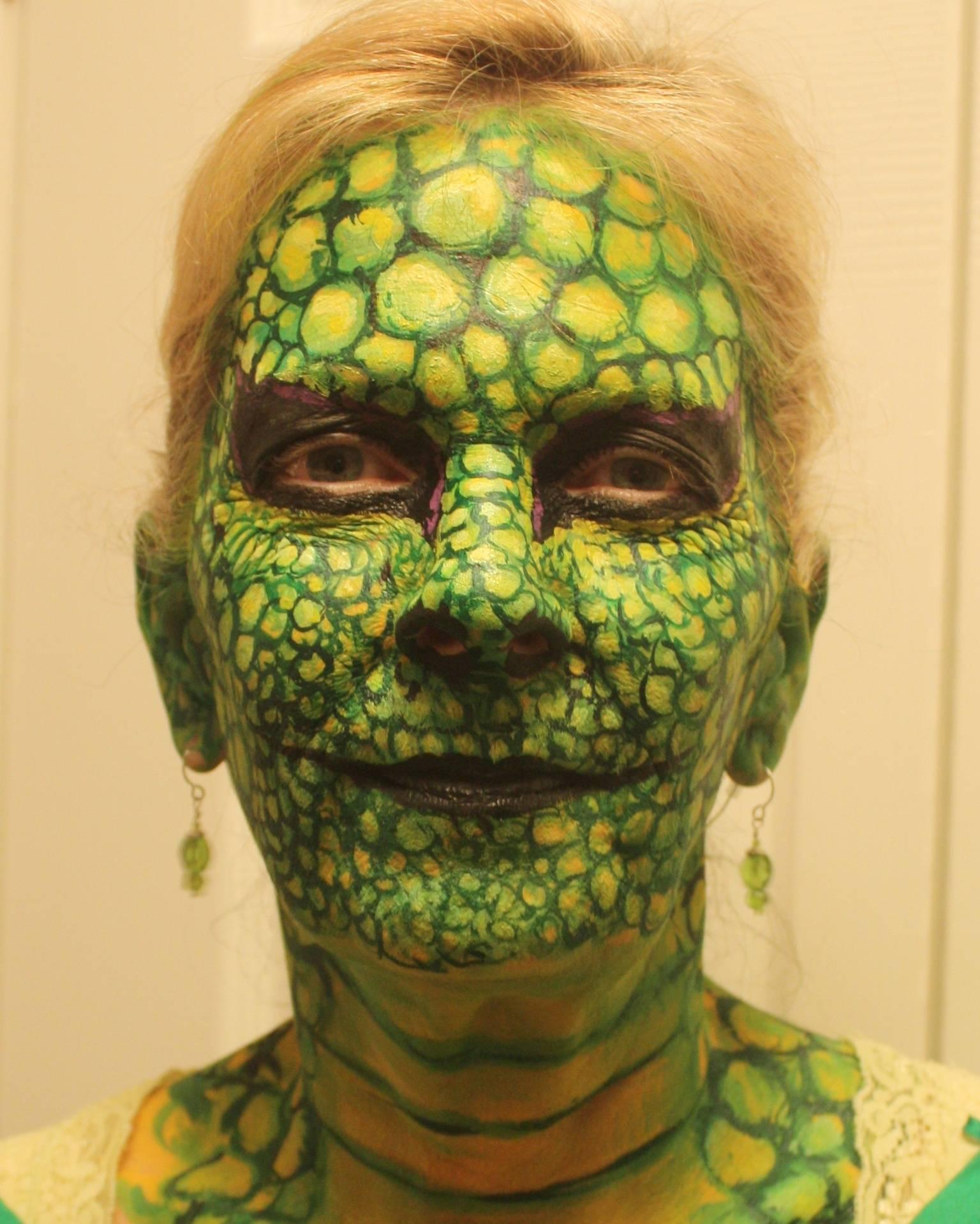 Lizard Face Painting