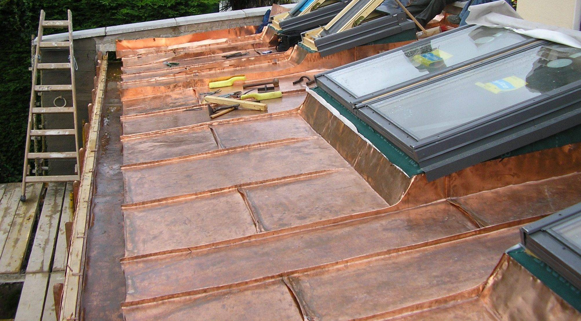 Copper divided up between roof lights