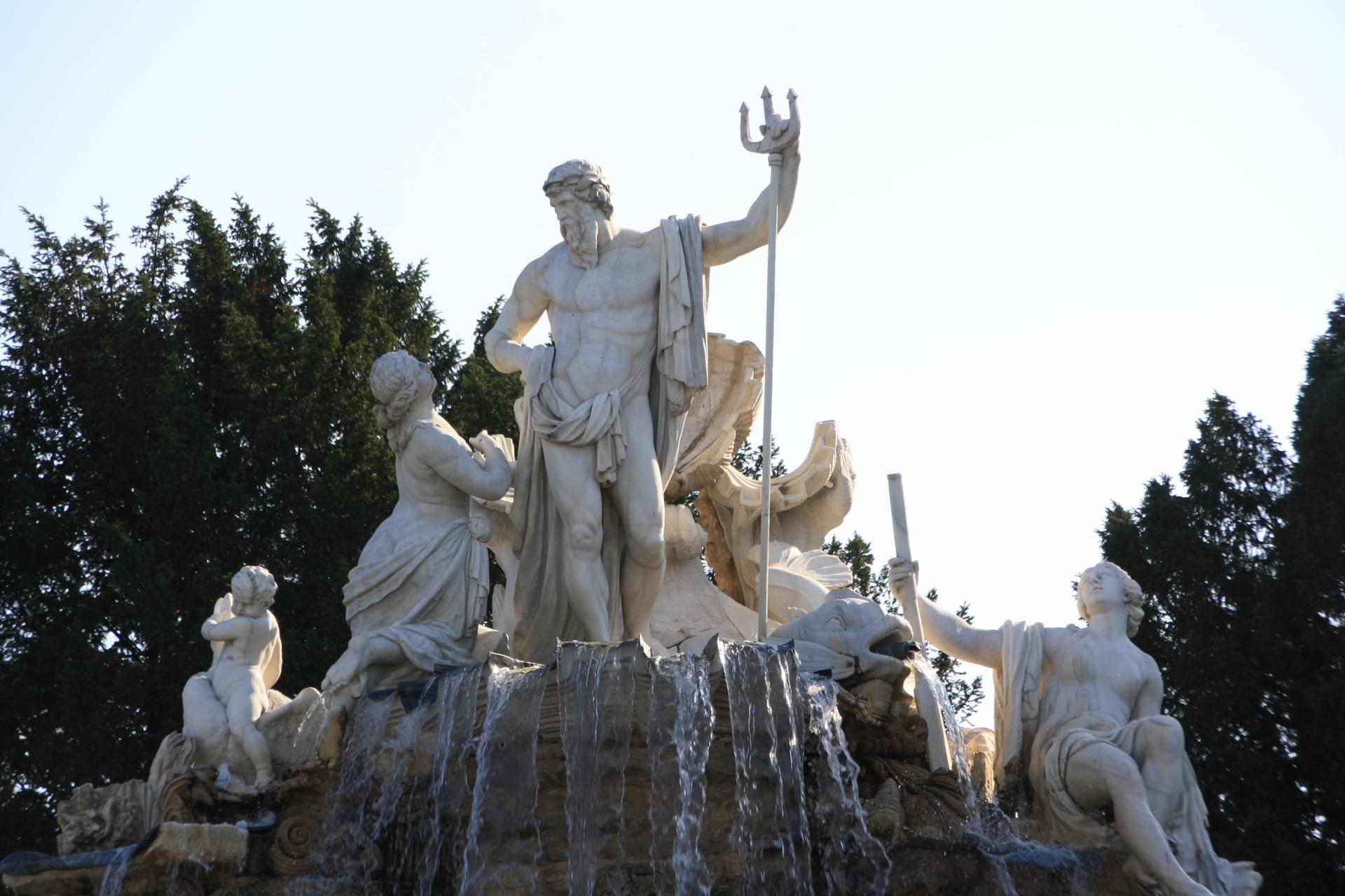 Statue at Schonbrun Palace in Vienna