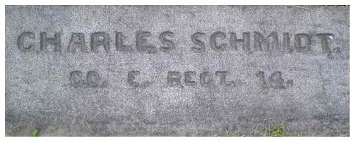 SCHMIDT, Charles - Co. E