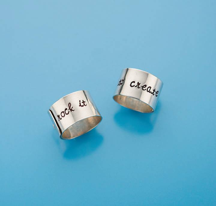 Riveted Message Ring