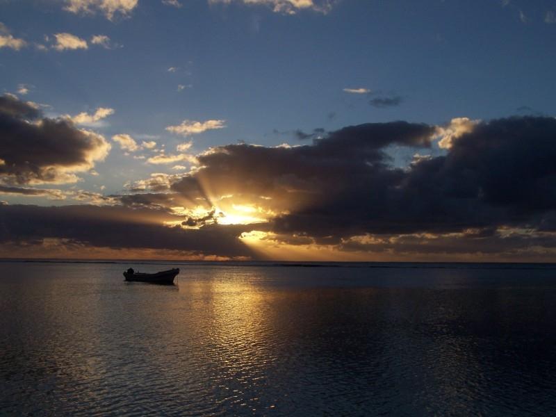 Tonga - Sunset and Boat