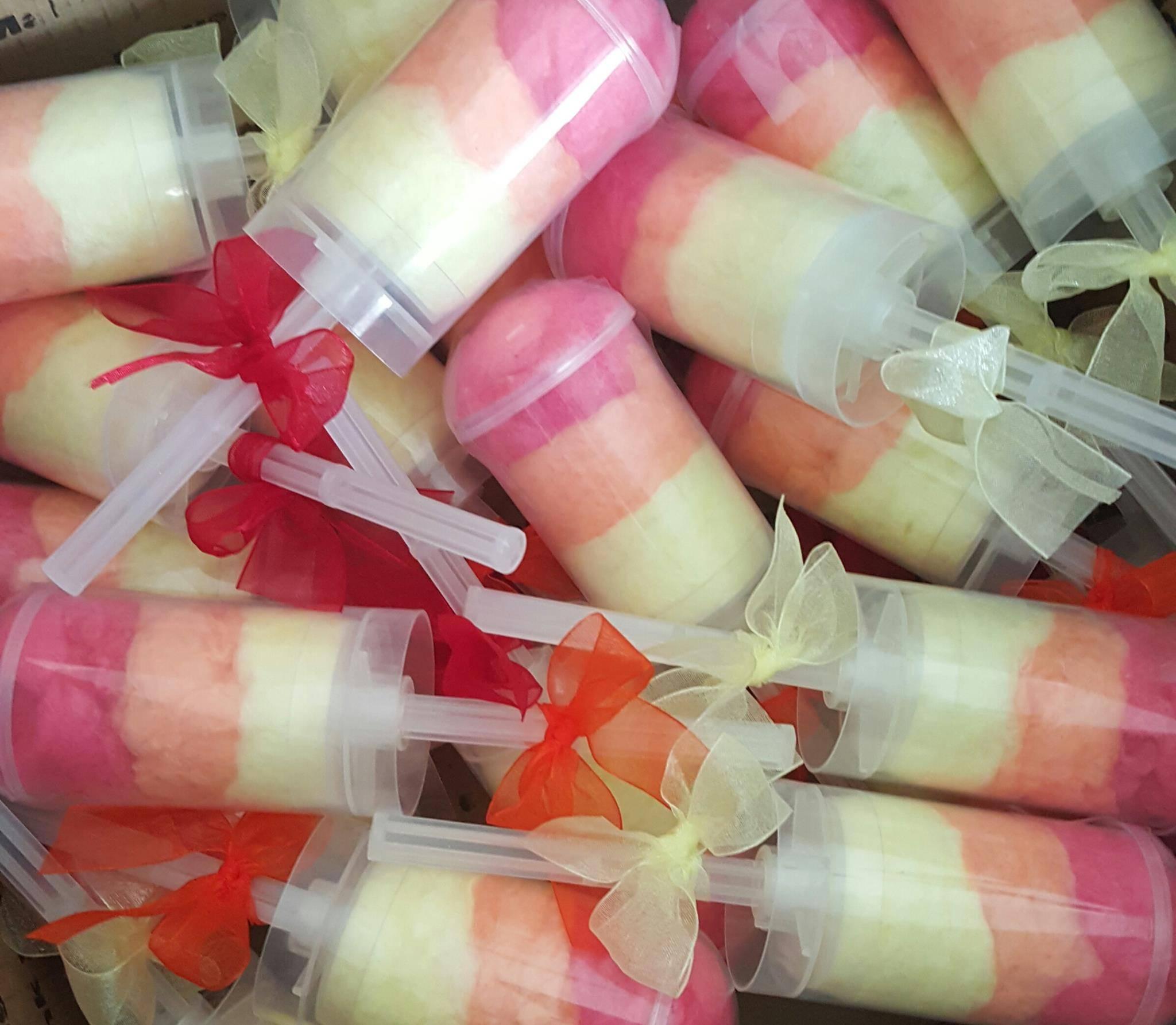 Cotton candy push pops