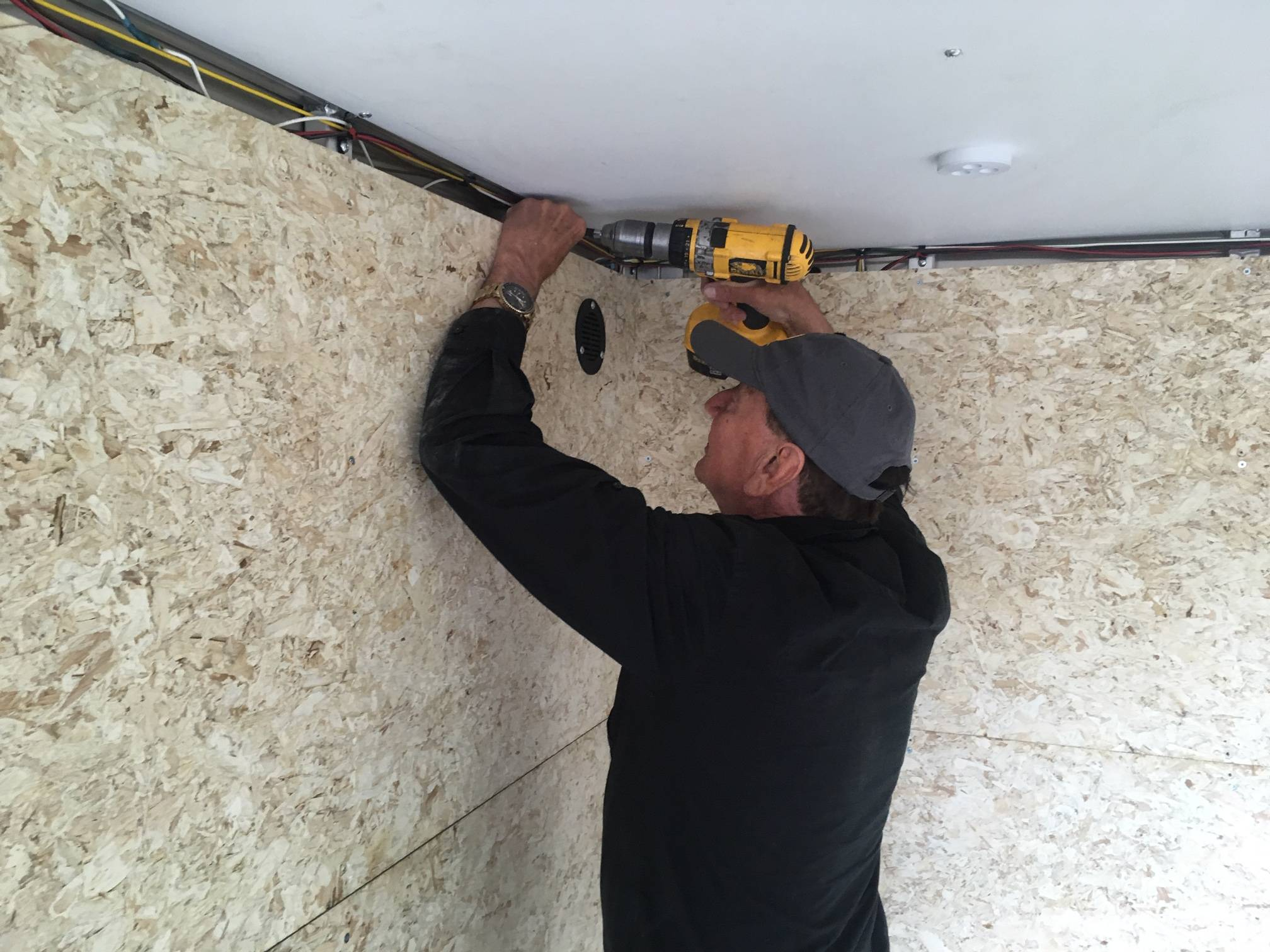 Fred removing the cable duct