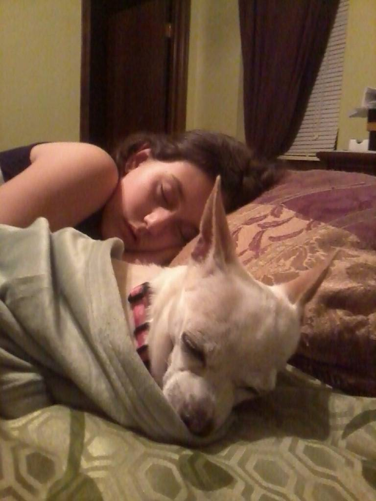 Vivie Ann sleeping in her new home!