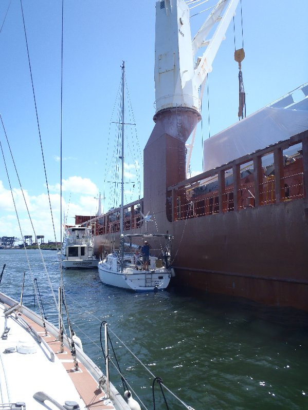 Guardian Spirit alongside the ship