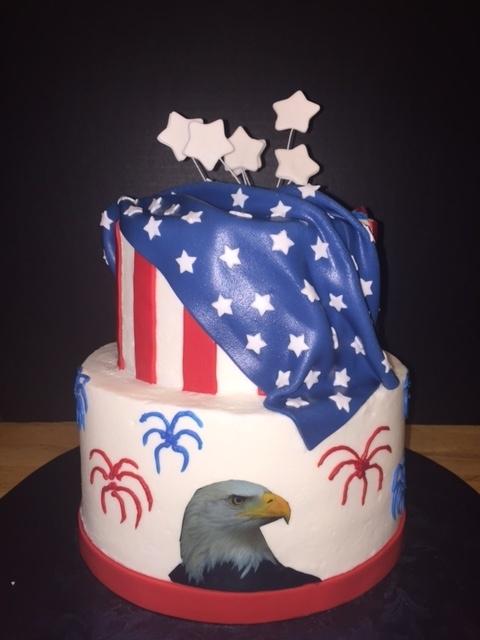 Americana Graduation Cake