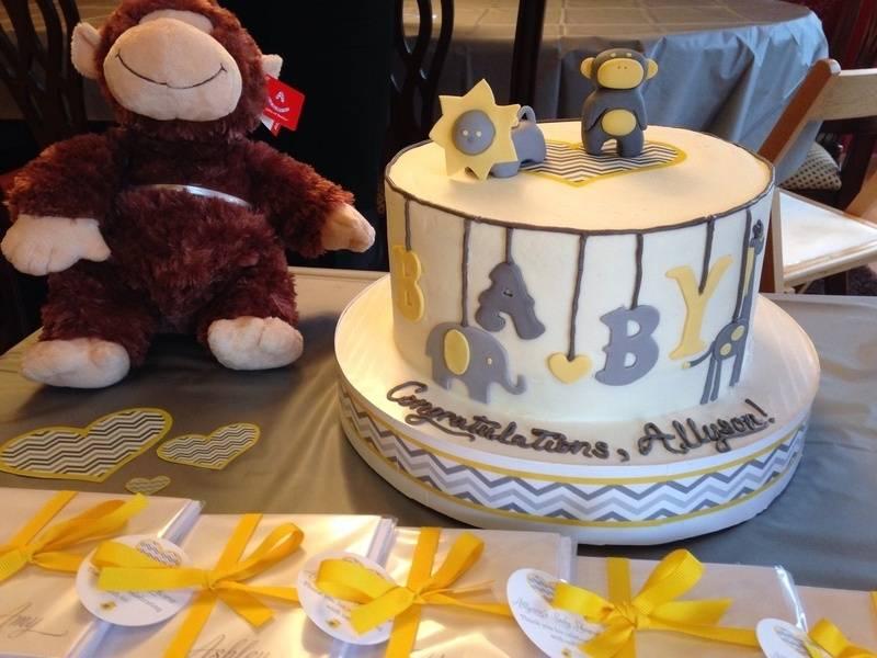 Zoo Animals Shower Cake