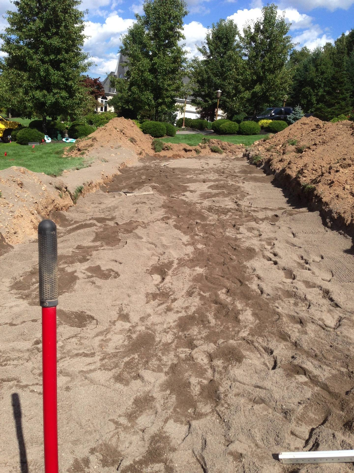 Base Layer of System Sand Installed