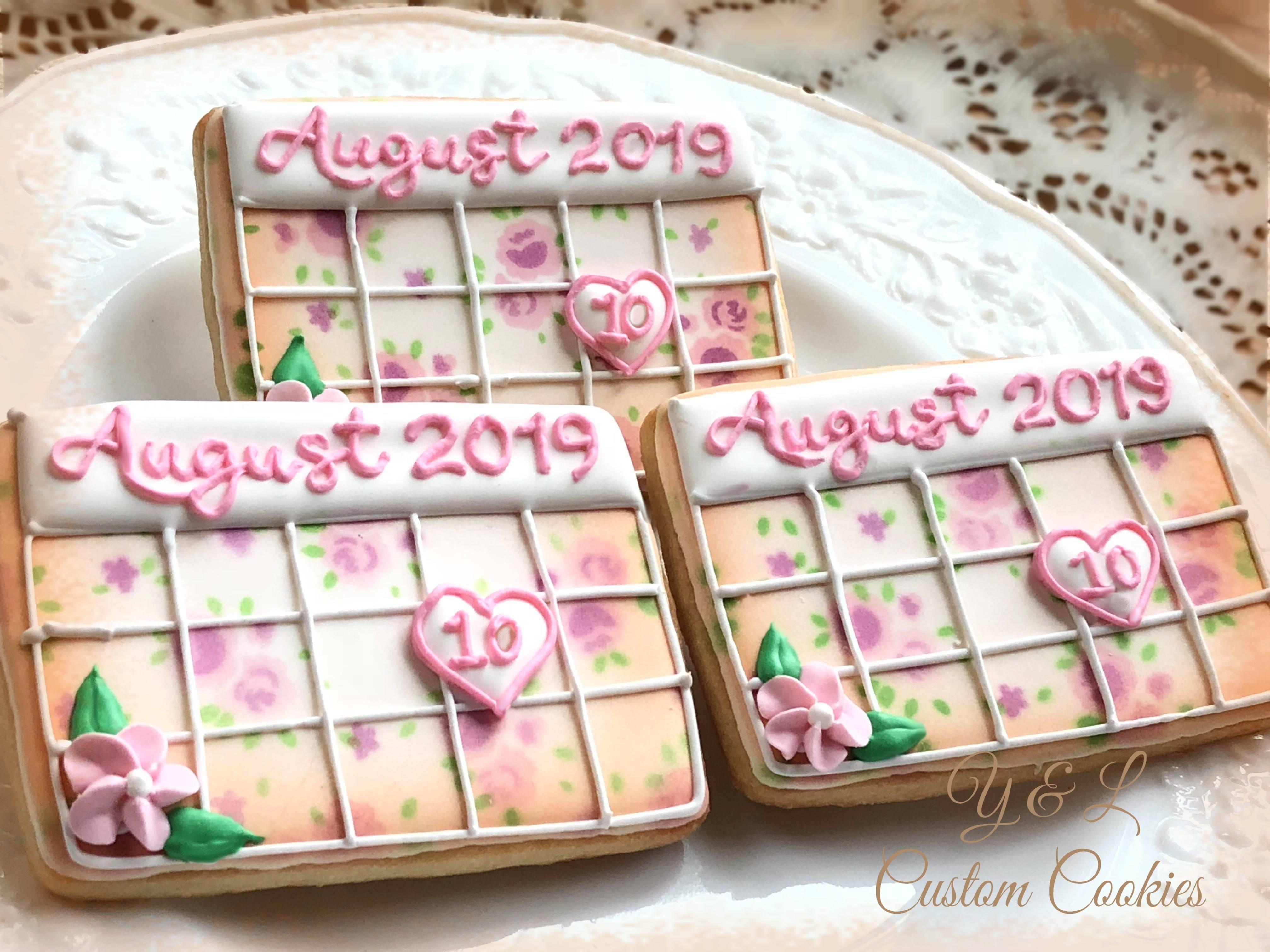 Bridal Calendar cookies 2