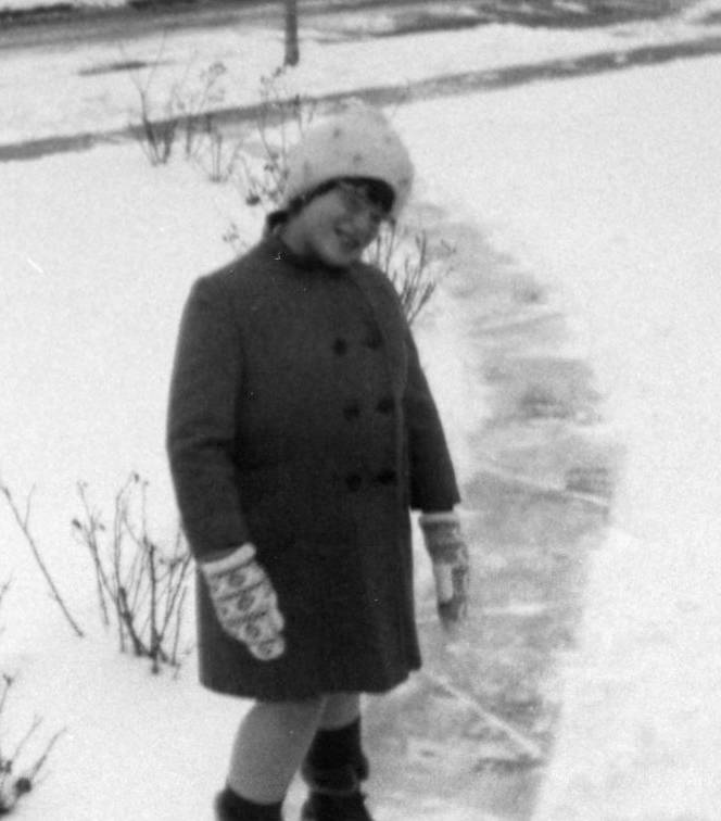Aimee enjoying the snow...