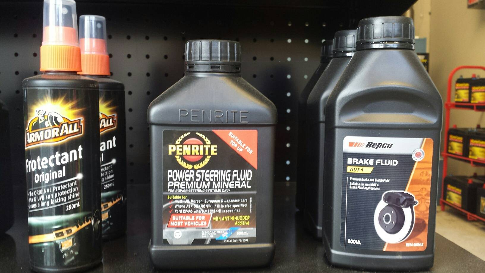 Brake Fluid & Power Steering Fluid