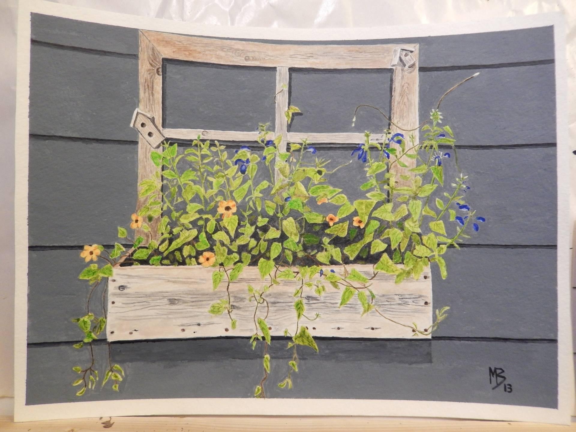 Mom's Flower Box, 10x8 SOLD