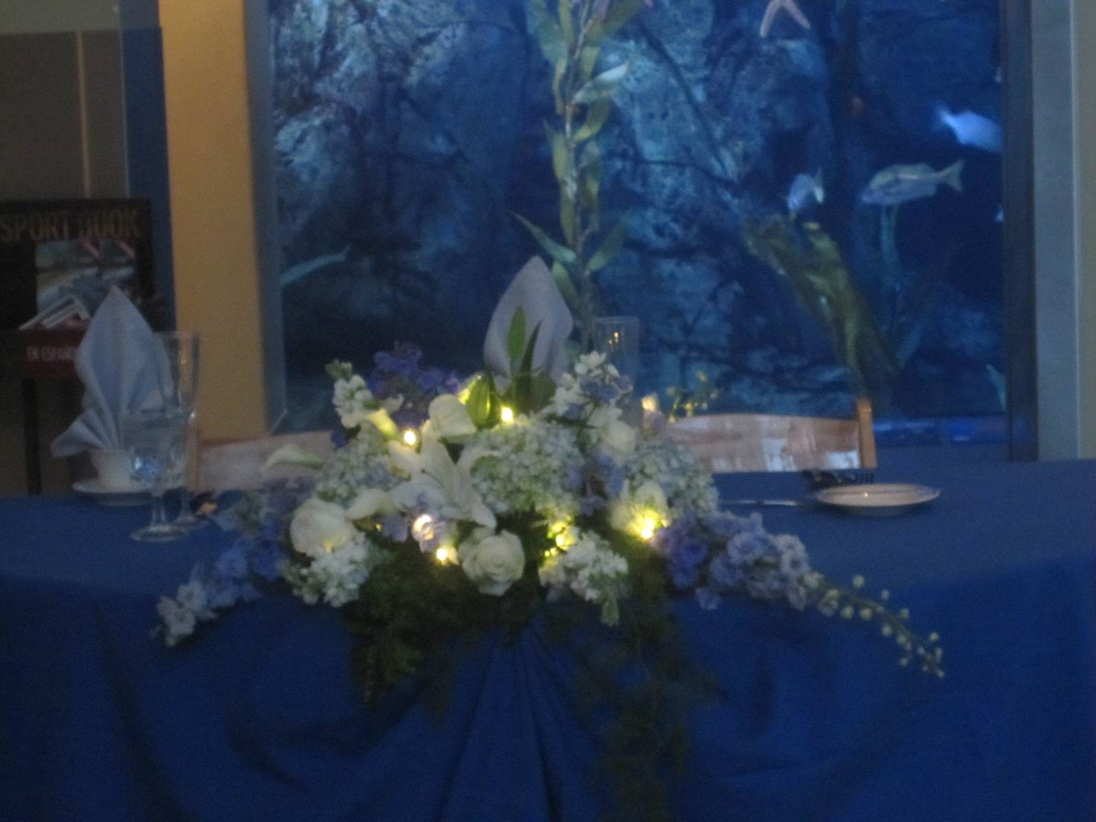 Sweetheart Table - Aquarium of the Pacific!