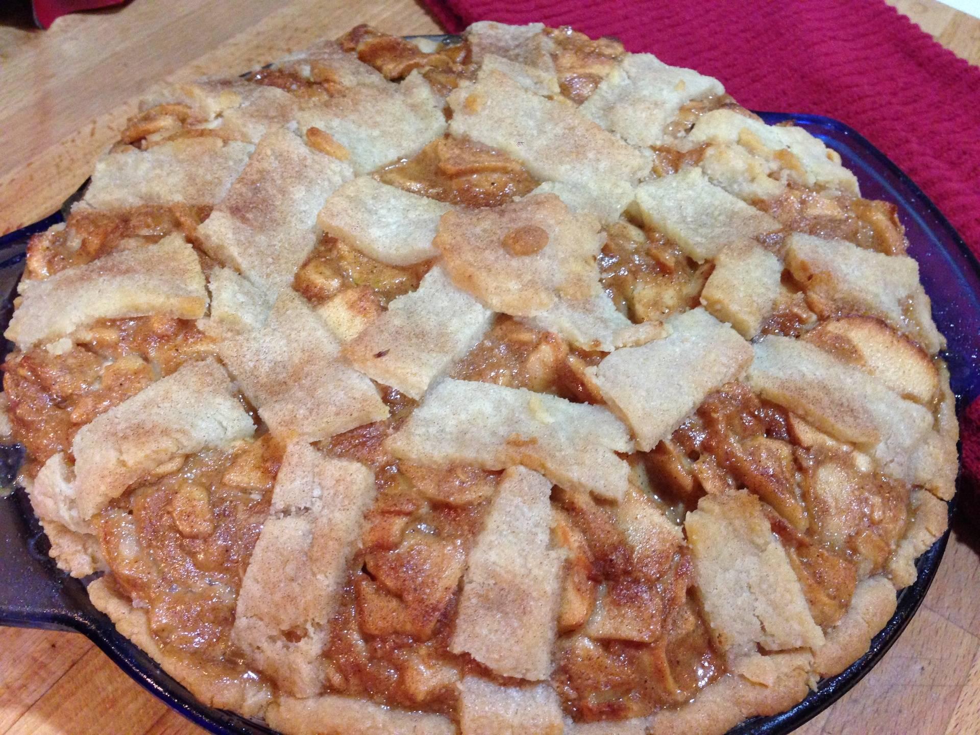GF Mascarpone Caramel Apple Pie