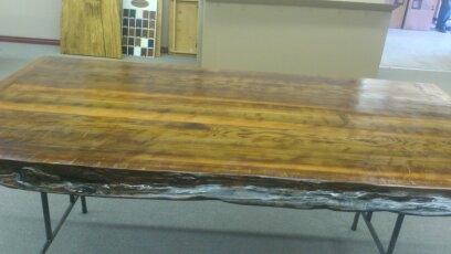 """120"""" by 48"""" cedar table"""