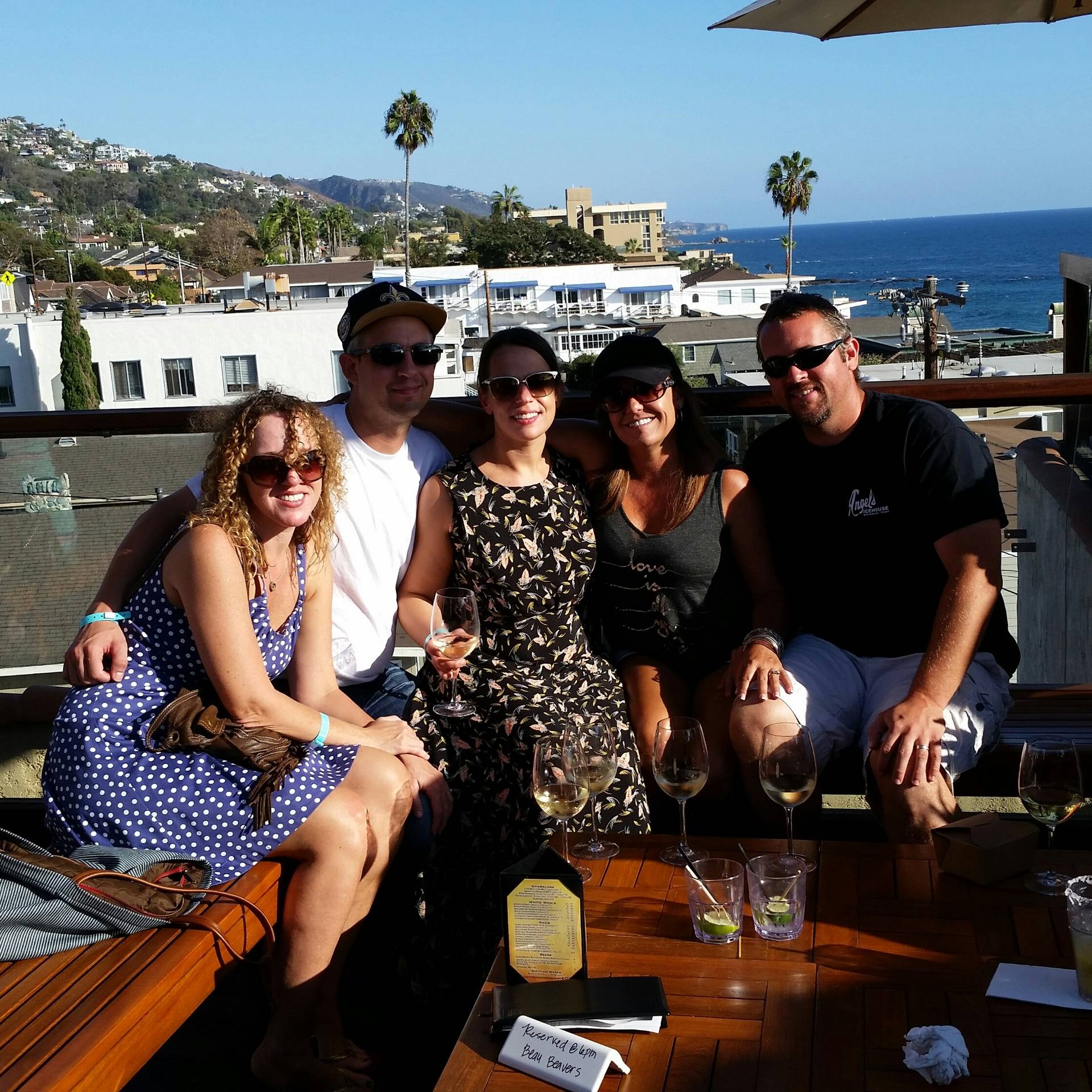 Chef Sue and Chef John enjoying some off time with friends at the Roof Top Lounge