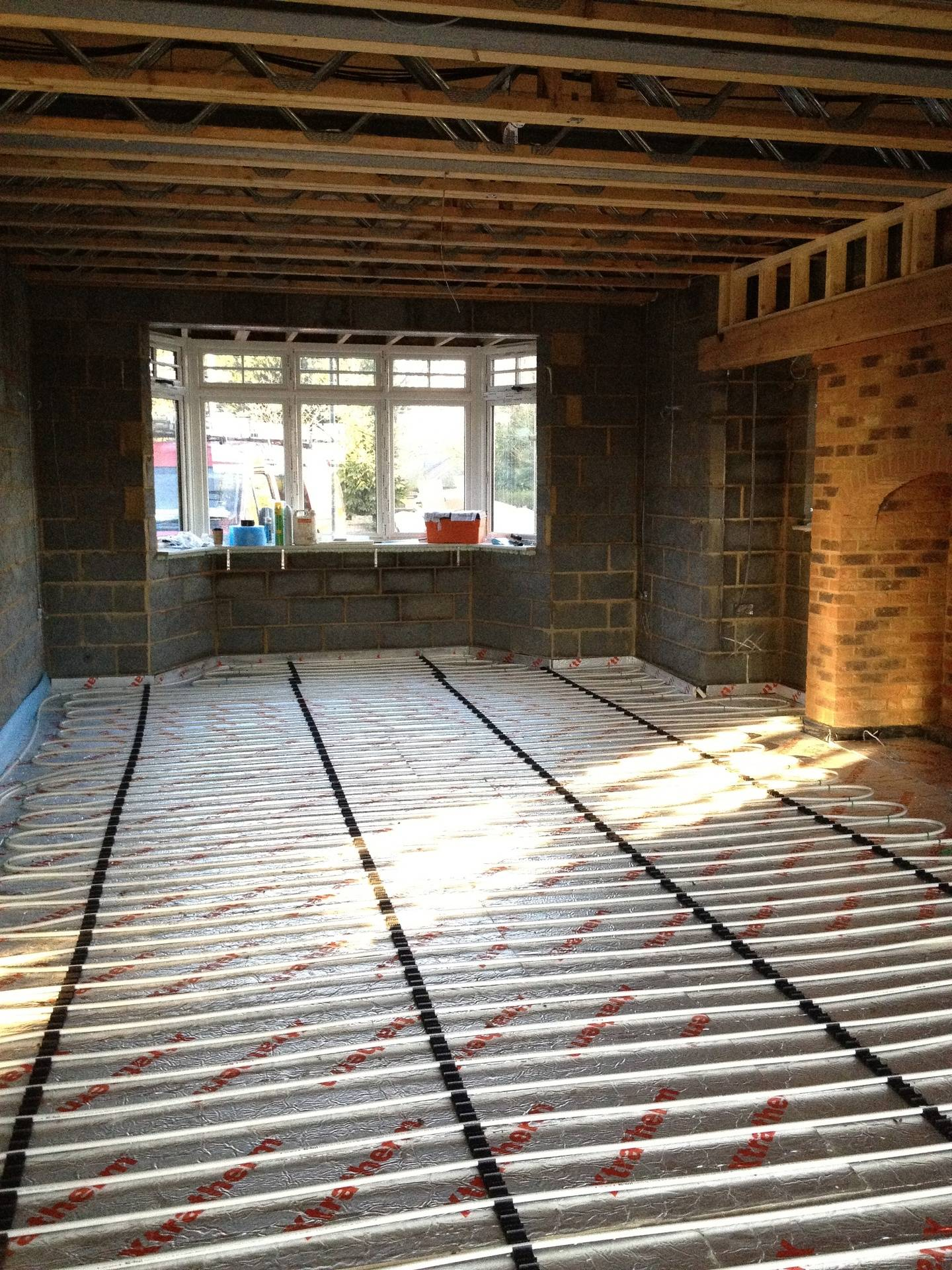 This property is ready for screed floor
