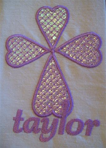 Lilac/mauve Poly thread and Opal