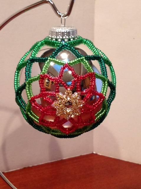 Poinsettia ornament (Item #4101) $20.00
