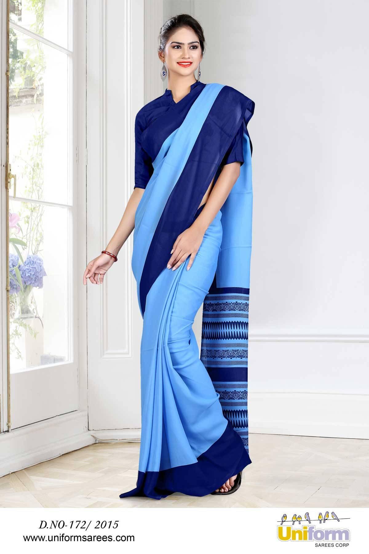 Uniform Saree For Hospital Nurse   Uniform Design No 172/2015