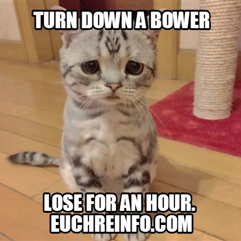 Turn down a bower, lose for an hour.