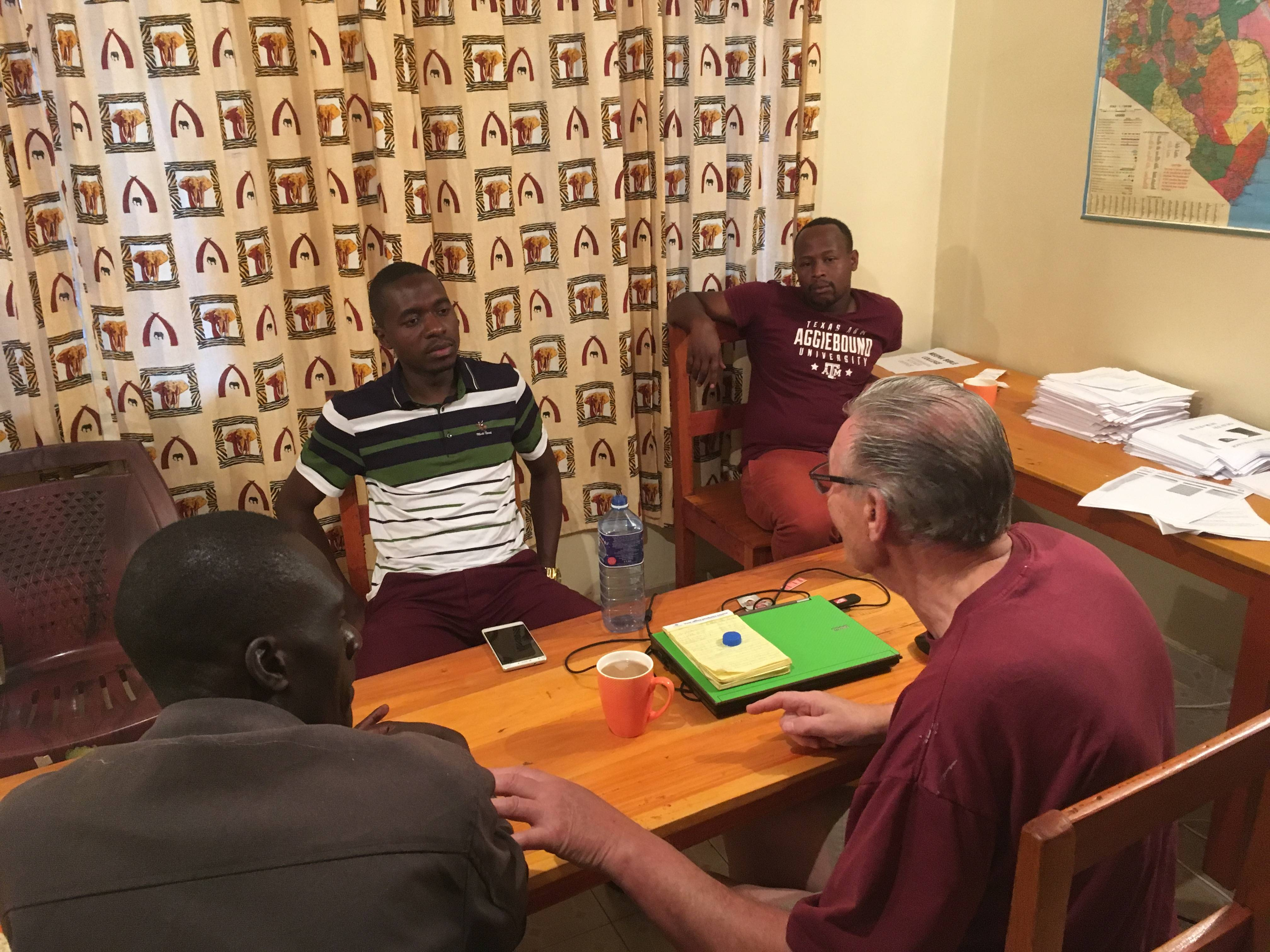 Linus with local Pastors