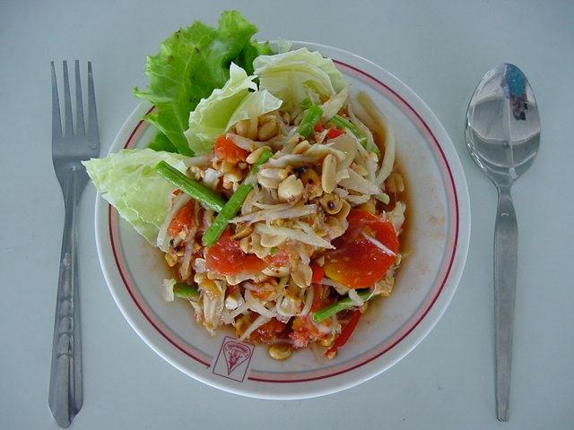 Favorite North Eastern dish: somtam