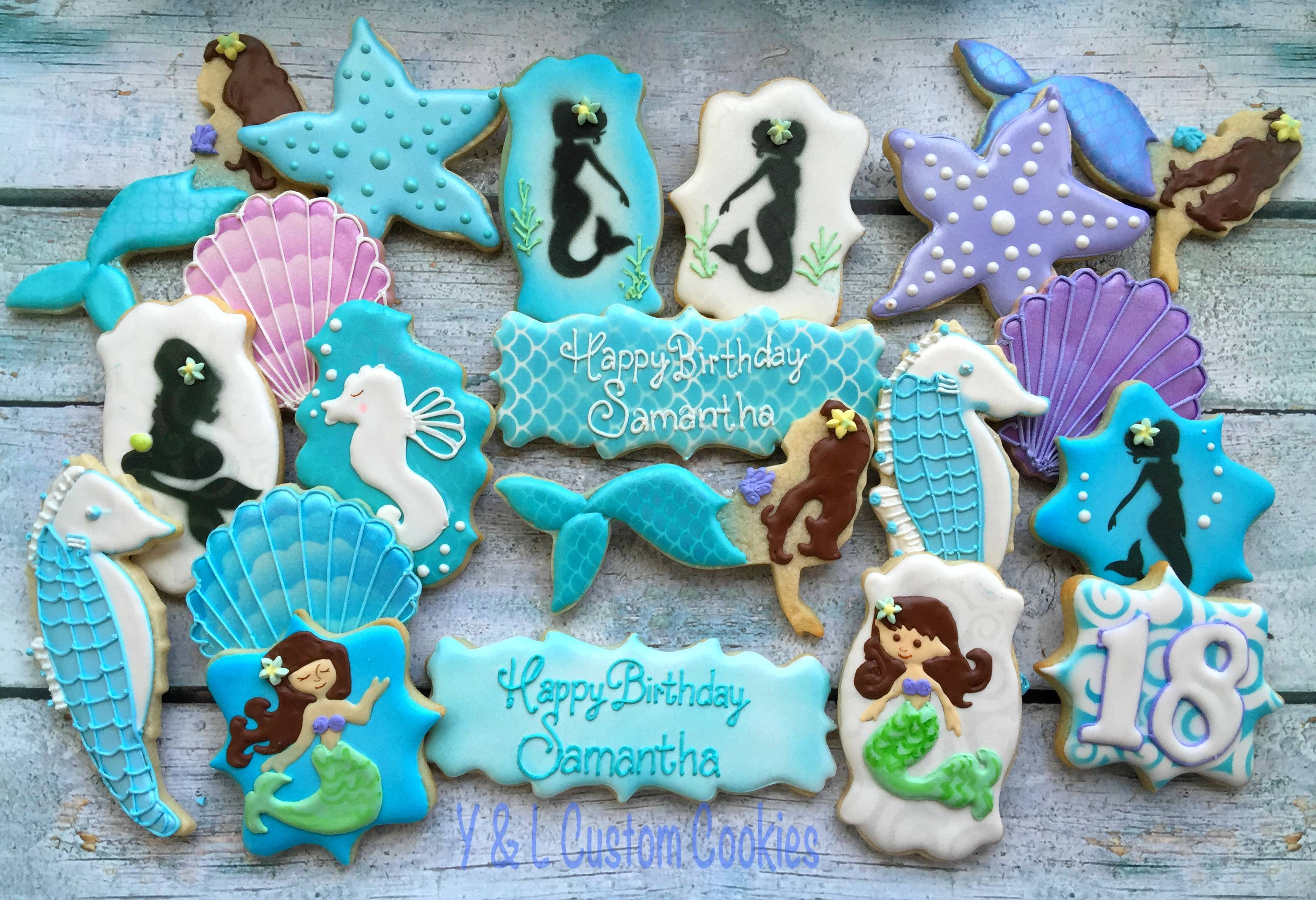 Birthday Cookies Mermaid Theme