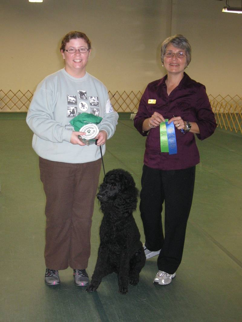 Pepper winning first place in Rally Advance B and earning her first RA leg.  10/14/10.
