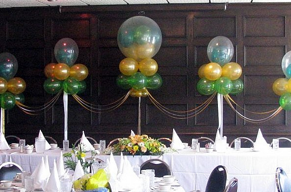 Five Floating Balloon Clouds for Birthday Party