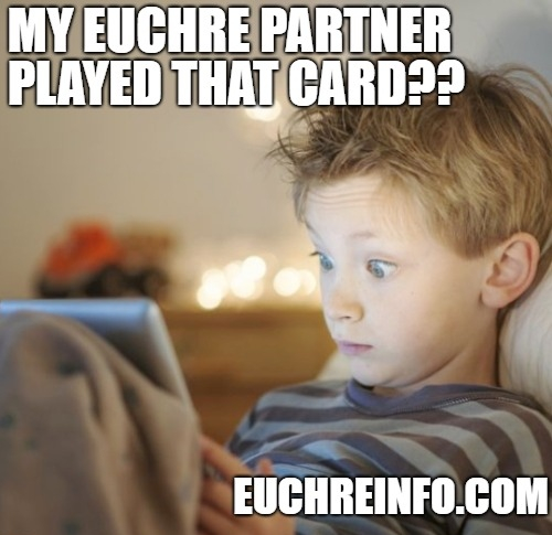 My Euchre partner played that card??