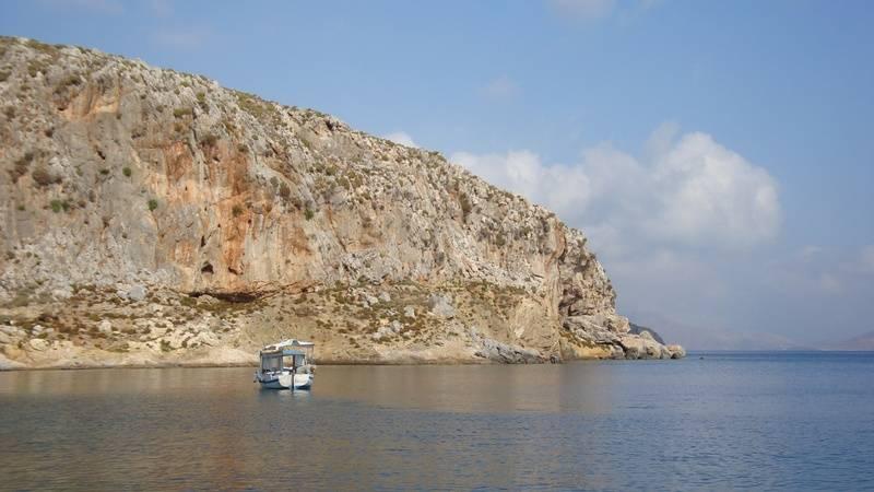 quiet anchorage on Kalymnos