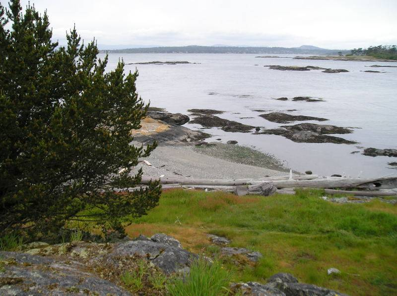 Discovery Island with Oak Bay in the background.