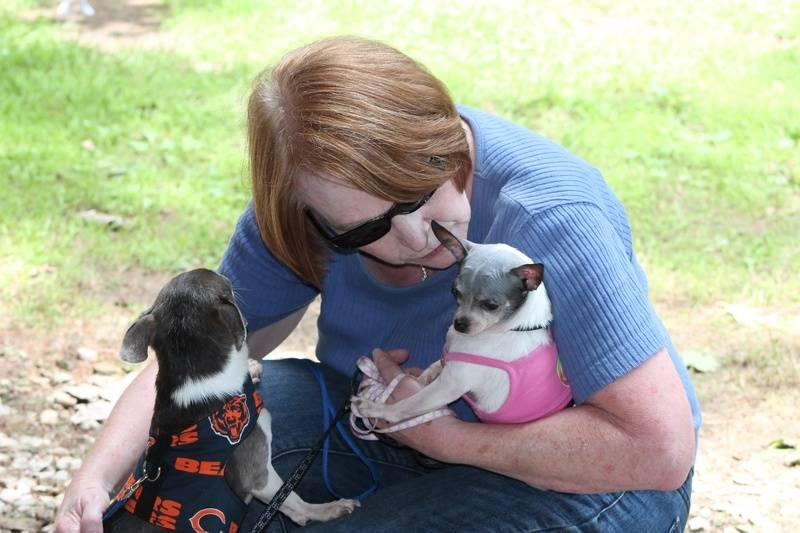 Karen with her babies